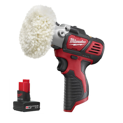 Milwaukee M12 Variable Speed Polisher/Sander Bare Tool 2438-20 with 3.0 Battery
