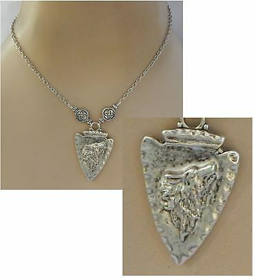 Wolf Necklace Arrow Head Pendant Silver Howling Jewelry Handmade NEW Fashion