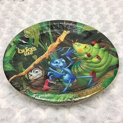 A Bugs Life Disney Pixar Hallmark Pack of 8 Count Round Paper Party Plates