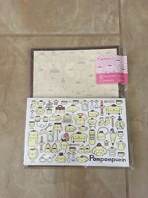 Sanrio Pompompurin Yellow Cute Stationary Set Writing Paper with Envelopes Japan
