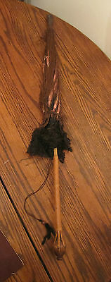 antique handmade rare victorian bambou wood umbrella parasols lace obscure 1800s
