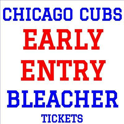 CHICAGO CUBS · EARLY ENTRY BLEACHER TICKETS ·  TUE SEPT 25 vs PITTSBURGH PIRATES