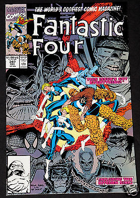 Fantastic Four #347 1st & 2nd Print  NM 1990 Lot of 2 High Grade Marvel Comics