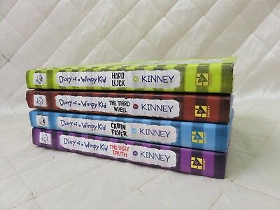 Diary of a Wimpy Kid Kinney Books 5 6 7 8 Hardcover Hard Luck 3rd Wheel More