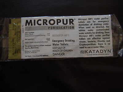 Katadyn Micropur MP1 water purification tablets - 10 tablets
