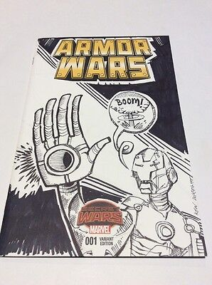 Armor Wars #1 Secret Wars Blank Sketch Variant Cover Comic Marvel with Iron Man