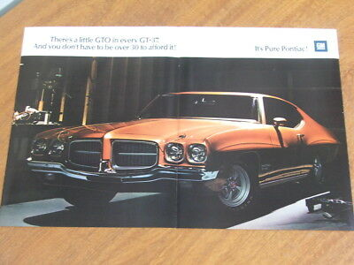 1971 Pontiac GT-37 original US two page advertisement