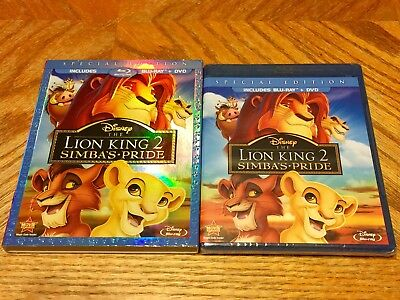 Disney Blu Ray Sealed W/ Slipcover The Lion King 2 Simba's Pride Brand New DVD