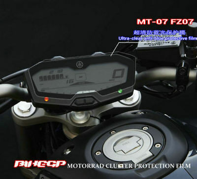 Motorcycle Ultra-clear Anti-blue Cluster Protective Film For YAMAHA MT-07 FZ07
