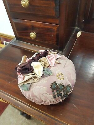 Victorian Shabby Chic Roses Pin Cushion