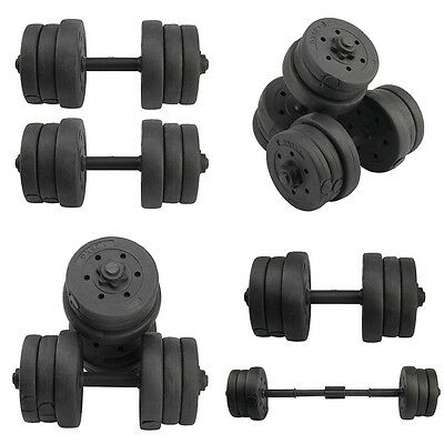 20kg Dumbbells Set Biceps Training Lifting Weights Gym Fitness/ Workout/ Weight