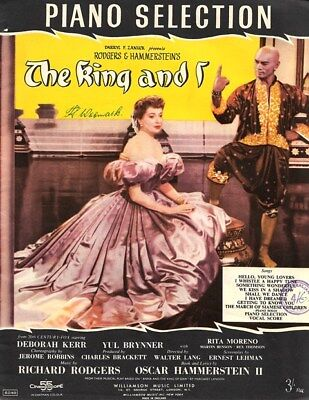 THE KING AND I - PIANO SELECTION - UK Sheet Music 1956 - RODGERS & HAMMERSTEIN