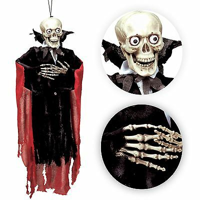 99cm Smoking Skelett Halloween Wandbehang Horror Totenkopf Ghul Dekoration