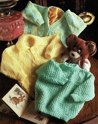 Babies and Toddlers Cardigan and Sweaters, Vintage KNITTING PATTERN - PDF 567