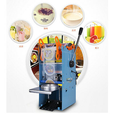 US 270W 220V Electric Automatic Plastic Tea Cup Sealer Sealing Machine 300Cups/h
