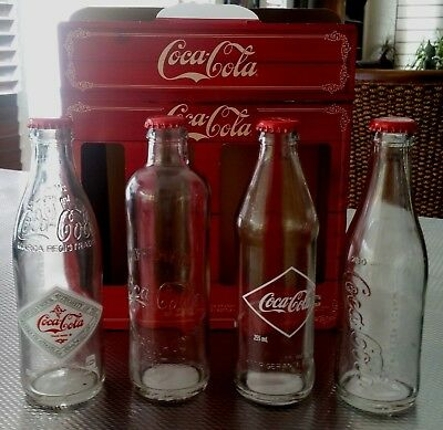 Coca Cola 4 Glass Bottle Boxed Set Vintage Style Circa 1899-1916  New