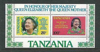 1985 The 85th Anni of the Birth of Queen Mother 2 Mini Sheets MUH/MNH