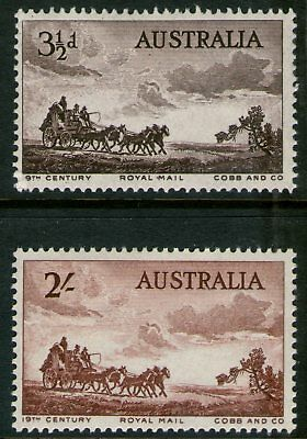 Australia 1955 Cobb & Co set of 2 Mint Unhinged