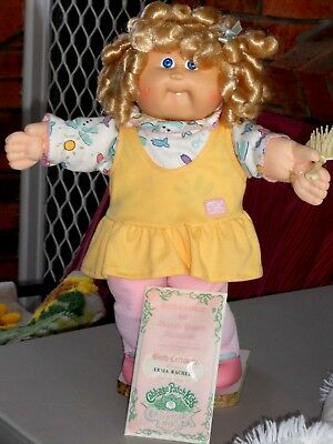 Cabbage Patch Doll..corn Silk Hair, Shirley Temple Curls  Birth Certificate