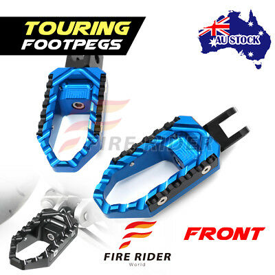 For Yamaha MT-10 / FZ-10 2016-2017 16 17 FRW Blue CNC Touring Front Footpegs AU
