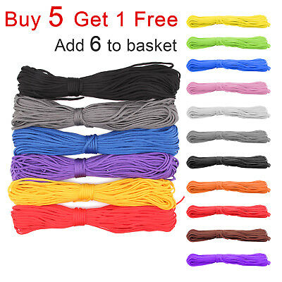 100ft 7 Strand Core Cord 550 Paracord Parachute Rope Lanyard TYPE III Durable