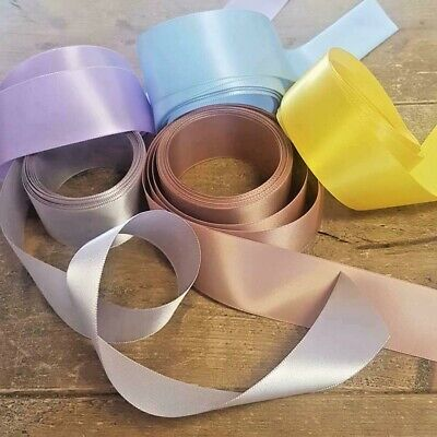 5 Metres of 38mm High Quality Single Sided Satin Ribbon - All Colours
