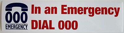 EMERGENCY 000 STICKER 265 x 65mm