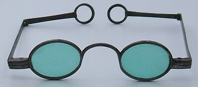"C.1780 ""ayscough""  Steel Spectacles With Green Lenses."