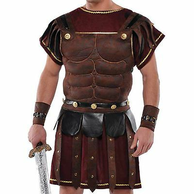 Adult Mens Ancient Roman Greek Gladiator Solider Armour Chest Fancy Dress Outfit