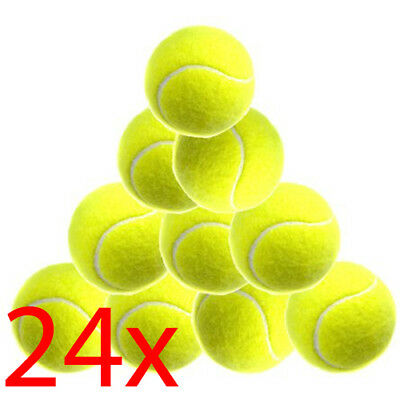 Set Of 24 Tennis Balls Cricket Sports Dog Toy Outdoor Fun Catch Leisure Play New