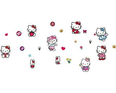 Wandtattoo Wandsticker Wandaufkleber Hello Kitty Pink 9 Motive 95 x 220 W136