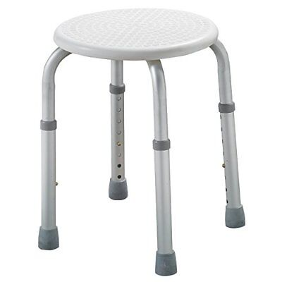 EliteCare Light weight &Adjustable Height Round Bath seat or Shower Stool ECSS04