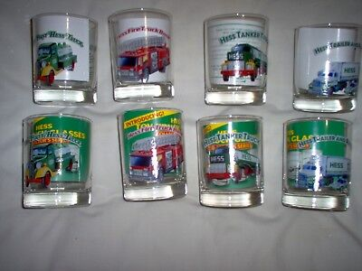 8 - Hess Truck Tumblers; Collector's Series; Excellent Condition See Description