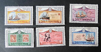 Turks & Caicos 1979 Rowland Hill SG545/50 sailing ship  MNH UM unmounted mint