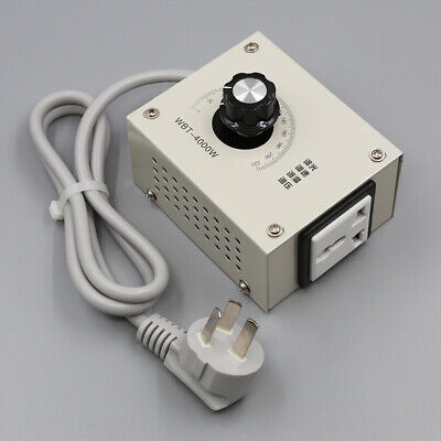 AC 220V 4000W Voltage Regulator Controller Adjust Motor Speed Dimmer Thermostat