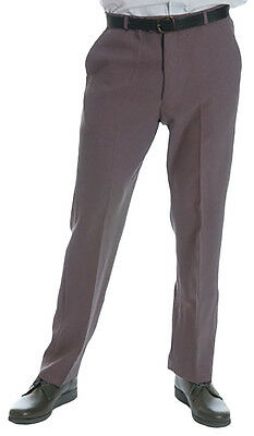Men's Bowling Trousers (with Belt)  - Grey  -  Lawn Bowls , Sports , Bowling