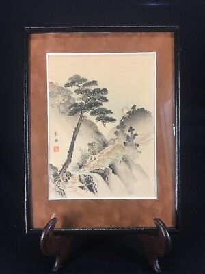 JAPANESE ARTIST SIGNED VINTAGE WATERCOLOR PAINTING (lh1220)