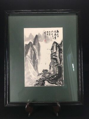 JAPANESE ARTIST SIGNED VINTAGE WATERCOLOR PAINTING (lh1226)