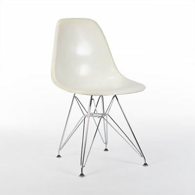 White 3rd Generation Zenith Original Vintage Eames DSR Dining Side Shell Chair