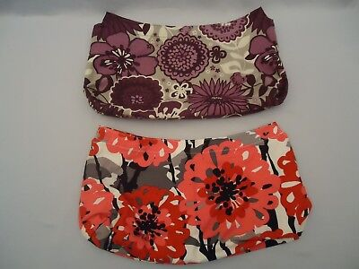 2 Thirty-One Gifts Brand Purse Skirt BOLD BLOOM Plum Awesome Blossom Pattern