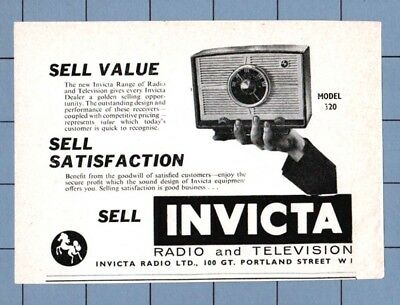 INVICTA RADIO   Model 320   (1960 Advertisement)