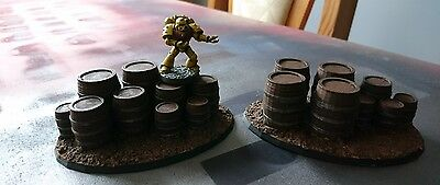*SCENERY* 18 wooden barrels, 40K, Malifaux Bolt Action Warhammer Shadow War