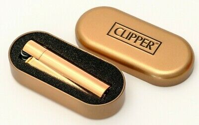 1 x Full Size Refillable Metal Clipper ROSE GOLD Lighter With Gift Box!