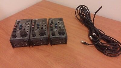 Pack 3 Remote Control Unit Sony Ccu Camera Rm-P9 With Cable 10 Mts