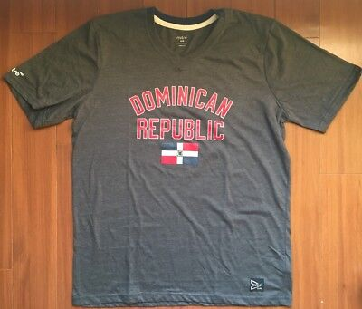 42975b23fd2 Dominican Republic Mens Soccer T-Shirt Mitre V-Neck Tee Santo Domingo 🇩🇴