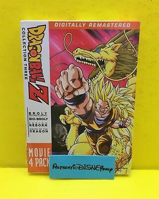 DRAGON BALL Z 4 MOVIE PACK COLLECTION THREE (3) DVD SET NEW AUTHENTIC Funimation