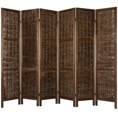 NEW Brown 6 Panel Room Divider i.Life Room Dividers