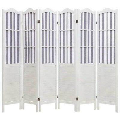 NEW White Coastal 6 Panel Room Divider i.Life Room Dividers