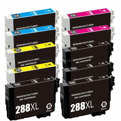 10x Remanufactured 288XL T288XL Ink For Expression XP330 XP430 XP434 XP446 XP440
