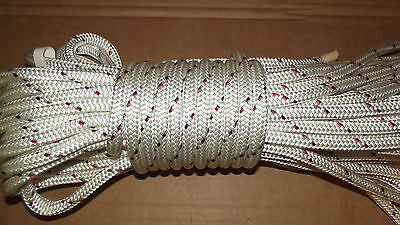 "7/16"" (11mm) x 90' Halyard Line, Dyneema Double Braid Line, Boat Rope -- NEW"